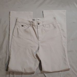 White DG2 Womens Cotton/Polyester Pants Size 10